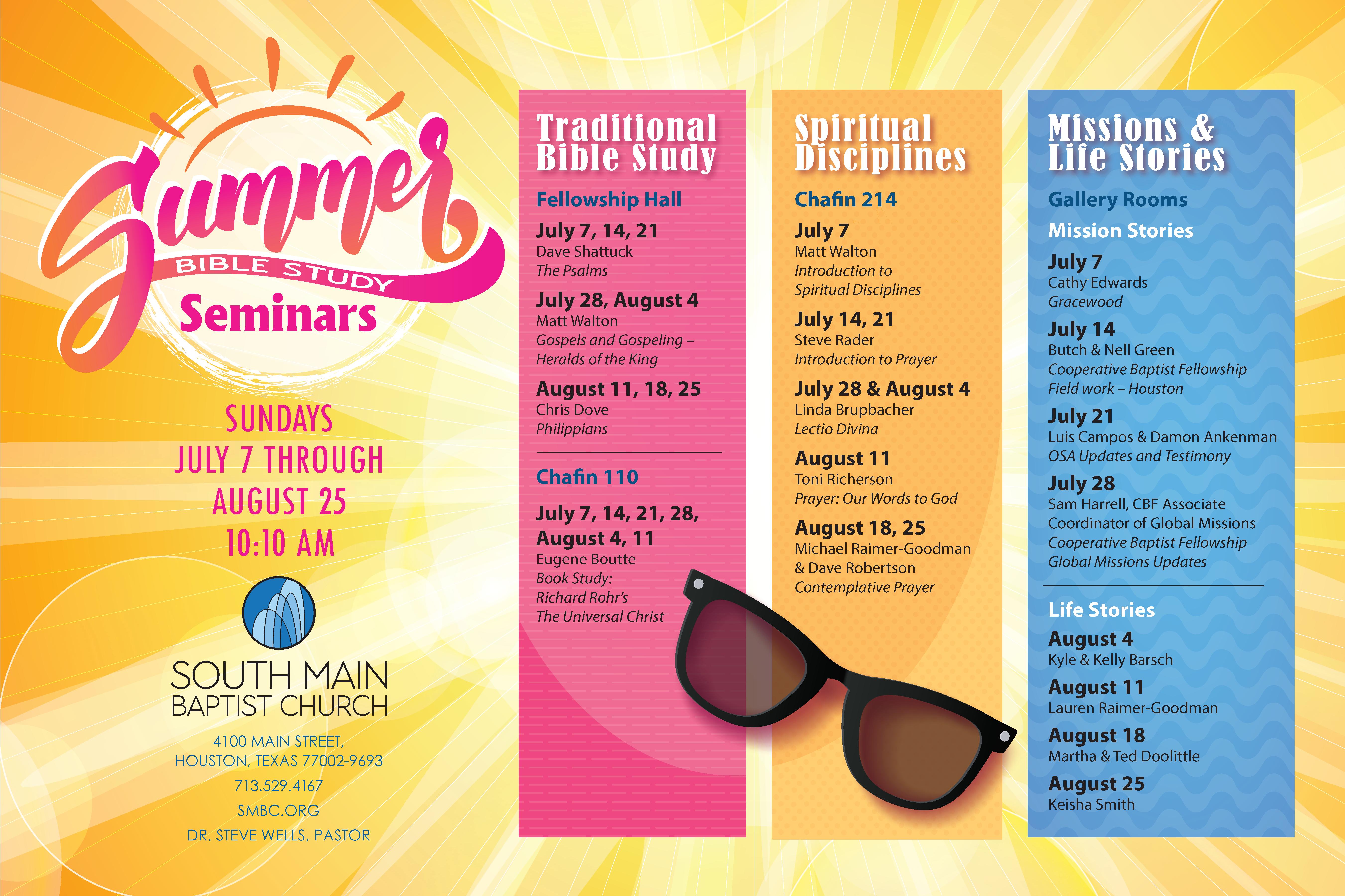 SUMMER SUNDAY SCHOOL | South Main Baptist Church